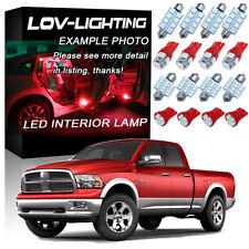 Fits For 2009-2018 Dodge RAM 1500 2500 3500 Red Interior LED Lights Kit Package