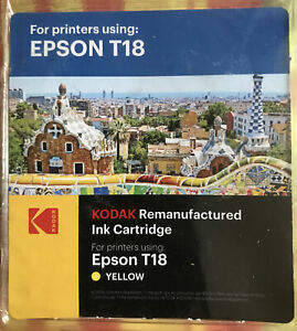 YELLOW Ink For Printers EPSON T18- Remanufactured Ink Cartridge by Kodak