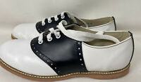Classic School Leather Saddle Shoes Black/white US size 9.5 D Willits EUC