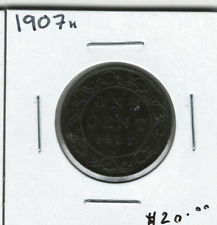 Canada 1907H 1 Cent Penny Large Cent Lot#3