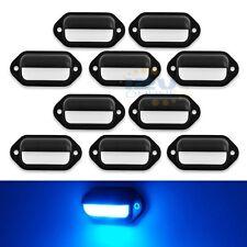 10 LED 12V RV CAR LICENSE PLATE LIGHT MARINE BOAT DECK STEP COURTESY LIGHTS BLUE