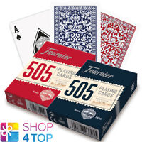 2 DECKS FOURNIER 505 PLASTIC COATED POKER PLAYING CARDS RED BLUE STANDARD NEW