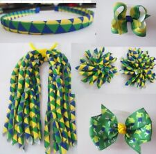 20 Headband Corker Ponytail Streamers Hair Bow Clip World Cup Brazil Football