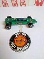 Original Hot Wheels 1969 Redline LOTUS TURBINE WITH BUTTON - GREEN- #238
