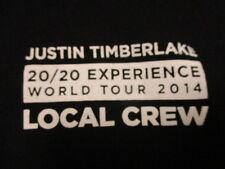 Rare Justin Timberlake 20/20 Experience Crew World Concert Tour (Xl) T-Shirt