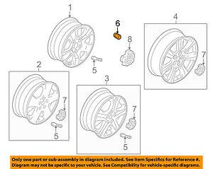 SUZUKI OEM 01-13 Grand Vitara Wheel-Lug Nut 0915912057