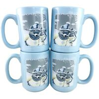 4 Disney Store Winnie The Pooh Mugs Piglet Coffee Cup Cold Days Warm Friends New