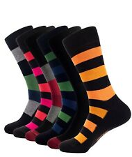 Men's Bamboo Thin Crew Socks Black Grey Multipacks Soft And Breathable Large XL