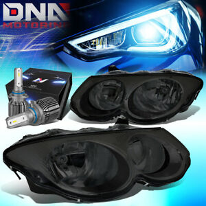 FOR 1999-2004 CHRYSLER 300M OE STYLE HEADLIGHT LAMP W/LED KIT+COOL FAN SMOKED