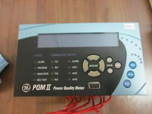 GE PQMII Power Quality Meter PQMII-T20-C-A F/W: 73D224C4.000 Used