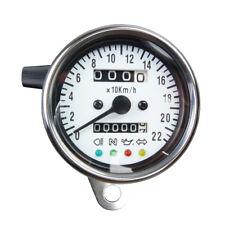 Mini Tachometer mit Kontrolleuchten weiss Speedometer für Japan und USA Motorrad