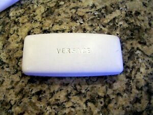 Versace white hard-sided glasses case