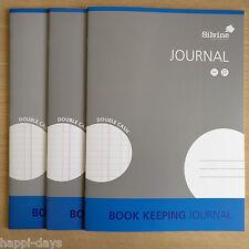 NUOVO - 3 x A4 LIBRO mantenendo scritture contabili-silvine conti del libro contabile di cassa - 3 libri