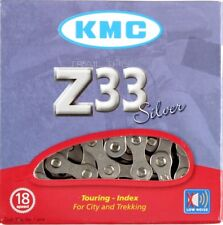"KMC Z33 Silver 5/6-Speed 1/2"" x 3/32"" Non-Index Road/MTB Bike Chain 116L Z33NP"