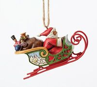 Heartwood Creek Santa in Sleigh Hanging Ornament NEW in Gift Box - 27386