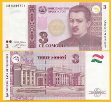 TAJIKISTAN banknote 5 somoni 2010 modification Sadriddin Ayni P-NEW UNC
