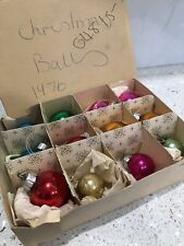 VINTAGE GLASS CHRISTMAS BAUBLES CHRISTMAS TREE ORNAMENTS c 1970's