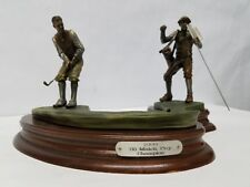 1999 Metal Golf Figurines - Statue By Artist Michael Roche Free Shipping