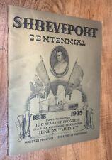 Shreveport, Louisiana, Centennial, History, Genealogy, Vintage 1935
