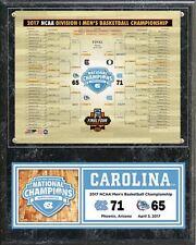 """North Carolina Tarheels 2017 NCAA Champions Final 12"""" X 15"""" Wood Plaque Photo #2"""