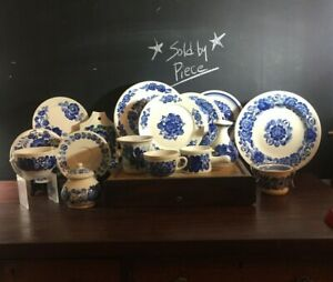 Wloclawek Fajans Hand Painted Polish Pottery Blue & White Sold by Piece Vintage