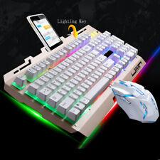Computer Gaming Keyboard & 6-Key Mouse RGB Backlit Mechanical Feeling Keyboard
