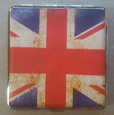 Metal Cigarette Case Retro Union Jack Design 20 Cigerettes Postage
