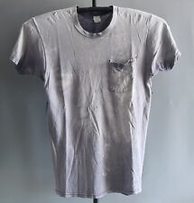 Distressed Vtg 90s Basic Faded Thrashed Worn work Stained T Shirt Holes 20x30