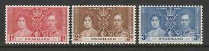 Swaziland 1937 Coronation set SG 25-27 Mnh.
