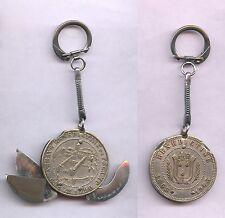 Porte-clés Couteau 3 Lames ABBAYE BENEDICTINE FECAMP keychain vintage année 1963