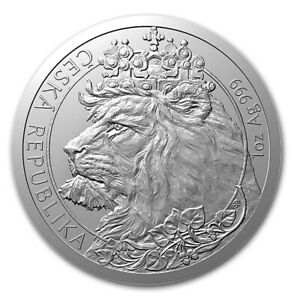2021 Niue Czech Republic Lion 0.999 1 oz Silver Coin ~~ Low Mintage ~~