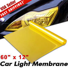 "Universal 12""x60"" Golden Yellow Headlight Tailight Fog light Tint Film Vinyl US"