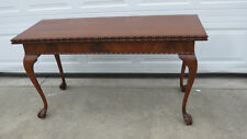 Kittinger Game Table Console Chippendale Rare Mahogany Chippendale