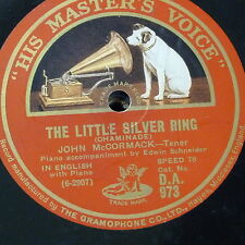 78rpm JOHN McCORMACK the little silver ring / bird songs at eventide