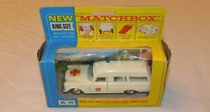 Vintage Lesney Matchbox King Size - Mercedes Benz Binz Ambulance No.K6 MIB