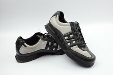 Helly Hansen Mens BlacK/Silver Leather Casual Walking Lace Ups Shoes Size 10.5M