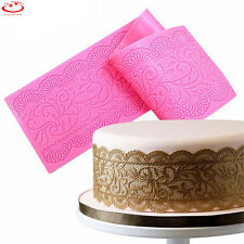 Silicone Fondant Lace Mould Embosser Mat Cake Mold Sugarcraft Decorating Tool