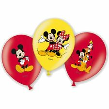 6 Latex Ballons Mickey Mouse Maus 27,5cm Luftballon Deko Disney Club House