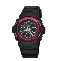 Casio G-Shock AW-591-4A New Chrono Analog Digital Mens Watch 200M Diver AW-591