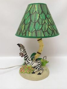 Dreamworks Madagascar Childs Lamp Marty the Zebra Jungle Leaves