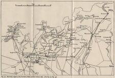 ITALIA. alimentazione elettrica. PO Bacino & Alpi. ww2 Royal Navy Intelligence MAP 1945