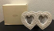 New Lenox Double Heart Shaped Frame 2 1/2 x 3