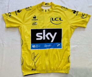 Chris Froome signed 2013 Tour de France yellow cycling jersey Sky *PROOF*
