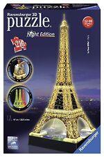 NOUVEAU! RAVENSBURGER 3D Puzzle Tour Eiffel nuit Edition 216 Piece Jigsaw 12579