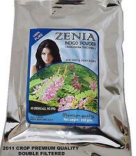 200g ZENIA PURE INDIGO POWDER BLACK HAIR DYE TO BE USED WITH HENNA POWDER