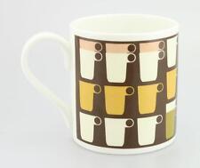 Orla Kiely China Mug - Stacked mugs Chocolate Brown Bone China mug