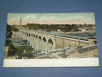 VINTAGE  1900S CENTRAL & H R R R RAILROAD TRAIN HARLEM    NEW YORK   POSTCARD