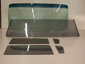 1959 1960 El Camino Glass Green Shade Windshield Grey Vent Door Back
