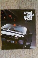 Porsche Christophorus Magazine English #200 June 1986 RARE!! Awesome L@@K