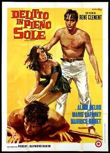 DELITTO IN PIENO SOLE MANIFESTO CINEMA ALAIN DELON PLEIN SOLEIL MOVIE POSTER 4F